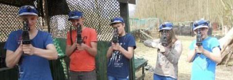 Lasertaggen in de Ardennen